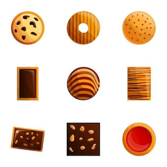 Conjunto de cookies, estilo cartoon