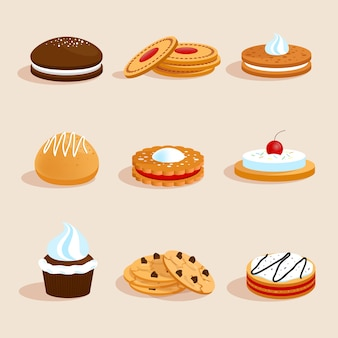 Conjunto de cookies isolado