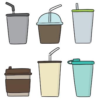 Conjunto de copo de bebida
