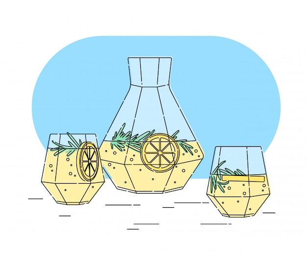 Conjunto de copo de suco