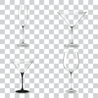 Conjunto de copos de coquetel para álcool