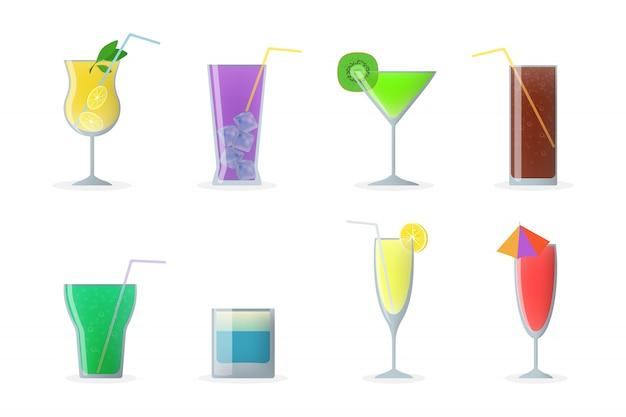 Conjunto de copos de coquetel