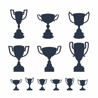 Conjunto de copos de troféu.