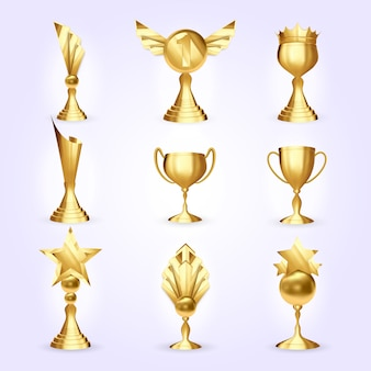 Conjunto de copos de troféu