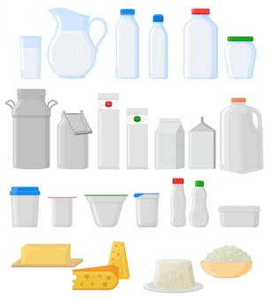 Conjunto de copos de vidro de jarra de vidro vazio de pacote de leite