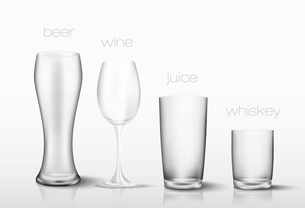 Conjunto de copos para bebidas.