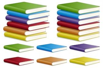Conjunto de cor do livro diferente