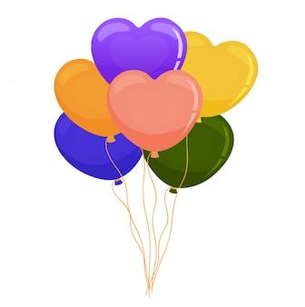 Conjunto de coração balão