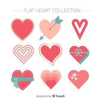 Conjunto de coração dos namorados
