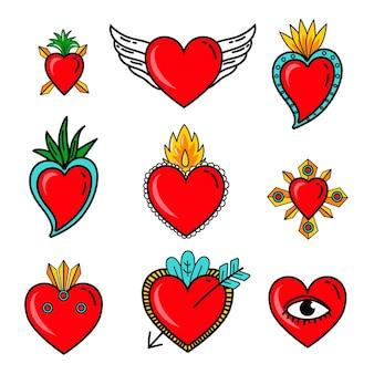 Conjunto de coração sagrado