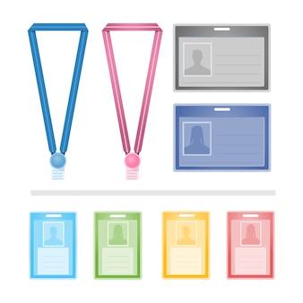 Conjunto de cores de cartões de identificação