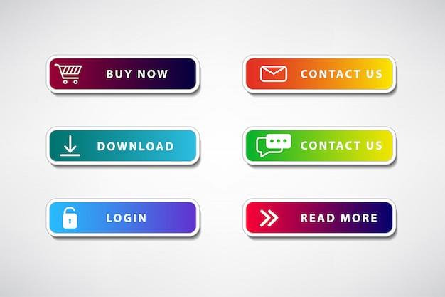 Conjunto de cores do botão