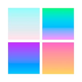 Conjunto de cores gradiente abstrata