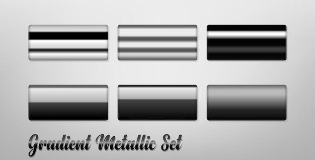 Conjunto de cores metálico gradiente, fácil de copiar