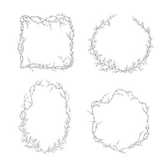 Conjunto de coroa de galhos