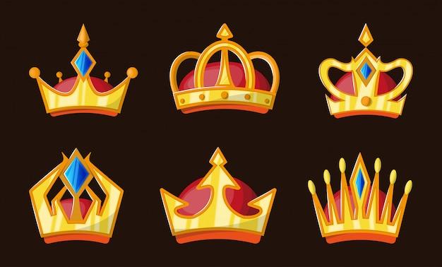 Conjunto de coroa de ouro