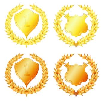 Conjunto de coroas de louros