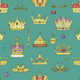 Conjunto de coroas de ouro