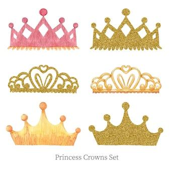Conjunto de coroas de princesa