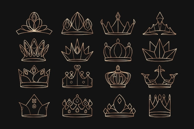 Conjunto de coroas reais
