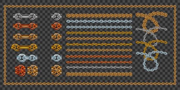 Conjunto de correntes de ouro realistas