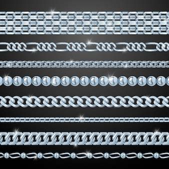 Conjunto de correntes de prata