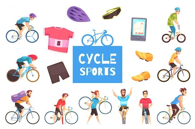 Conjunto de corridas de bicicleta