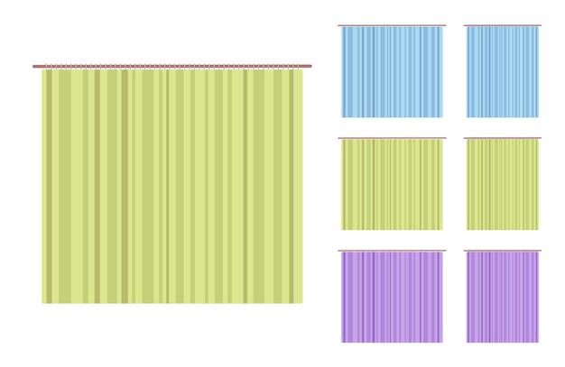 Conjunto de cortina e cortina de moldura