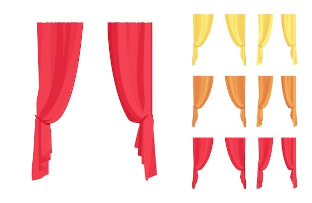 Conjunto de cortina e cortinas