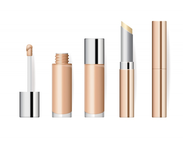 Conjunto de cosméticos maquiagem realista