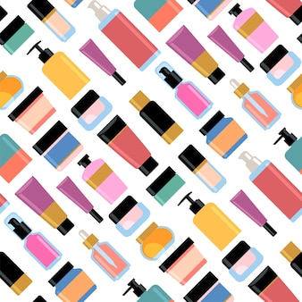 Conjunto de cosméticos para cuidados da pele.