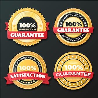 Conjunto de crachá de garantia 100%