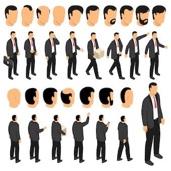 Conjunto de criação de caracteres de empresário