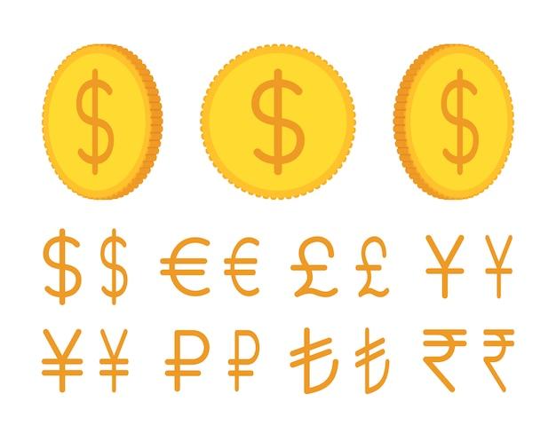 Conjunto de criação de moedas de ouro