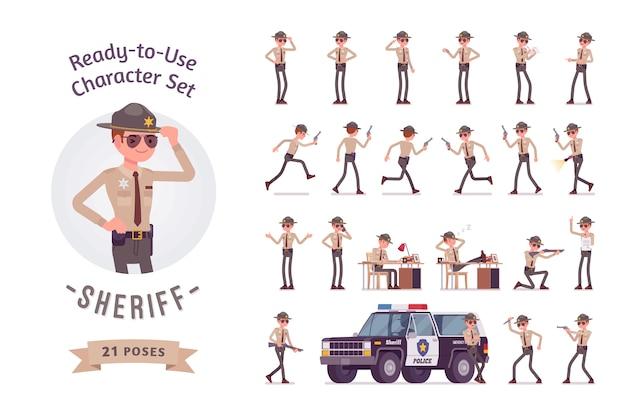 Conjunto de criação de personagem de xerife