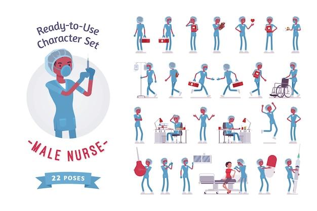 Conjunto de criação de personagem enfermeiro
