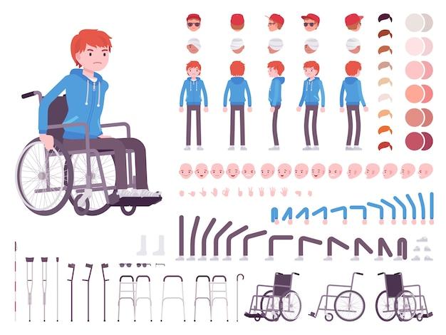Conjunto de criação de personagens para usuários de cadeiras de rodas