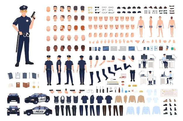 Conjunto de criação de policial