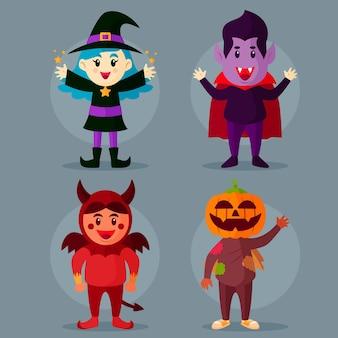 Conjunto de criança de halloween