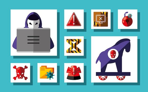 Conjunto de crimes cibernéticos