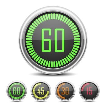 Conjunto de cronômetro digital regressivo