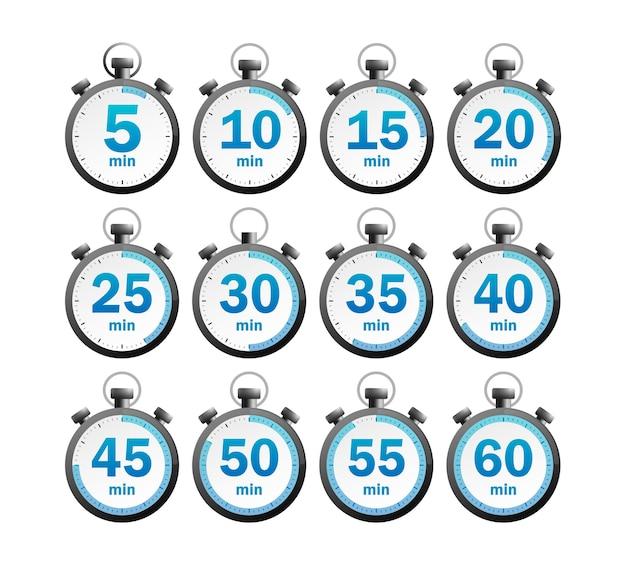 Conjunto de cronômetro moderno
