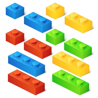 Conjunto de cubos de brinquedo de construção