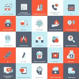 Conjunto de cuidados de saúde e medicina