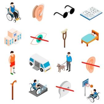 Conjunto de cuidados para pessoas com deficiência