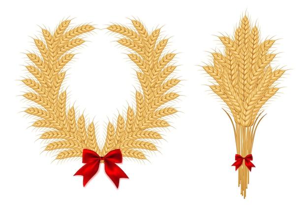Conjunto de culturas agrícolas de cereais