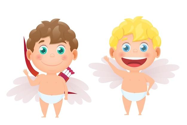 Conjunto de cupidos de anjos