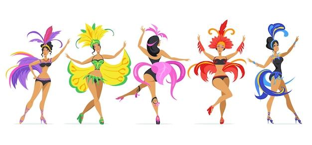 Conjunto de dançarina de samba