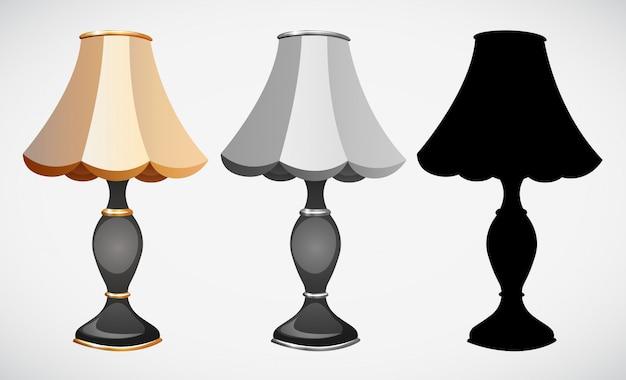Conjunto de decoração da lâmpada