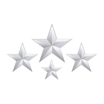 Conjunto de decoração de estrelas isolada